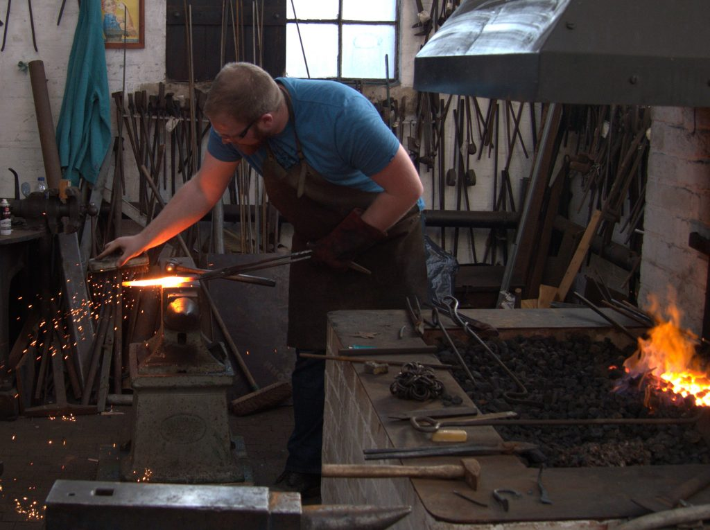 me forging at Claymills